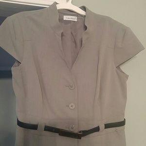 Calvin Klein Gray Shift Dress